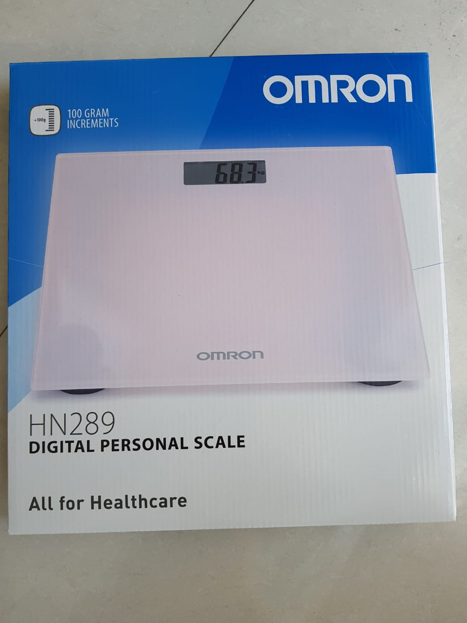 Omron HN 289 Automatic Personal Digital Weight Machine With Large LCD Display and 4 Sensor Technology For Accurate Weight Measurement