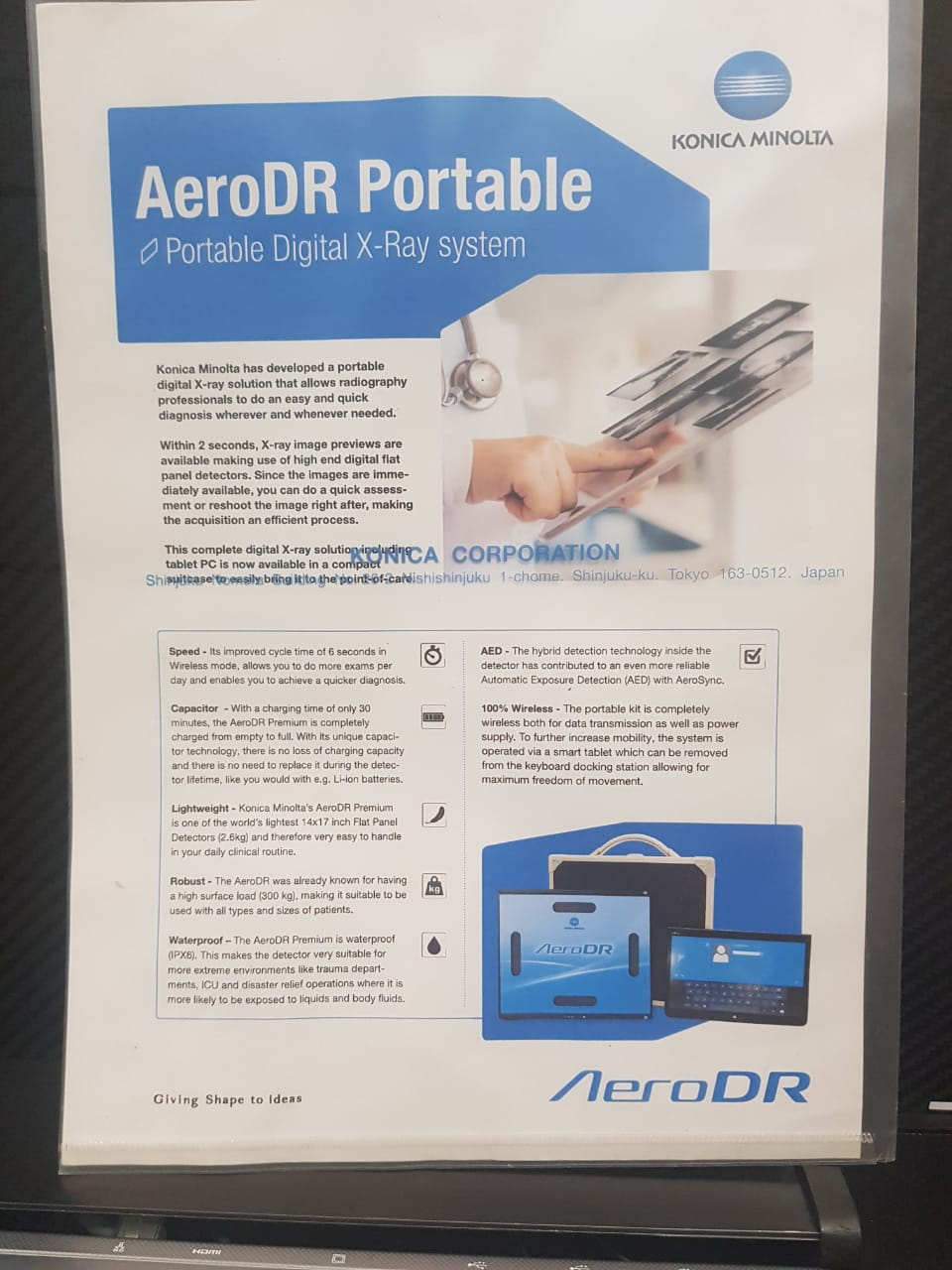 AeroDr konica  wireless digital radiology(flat datector)